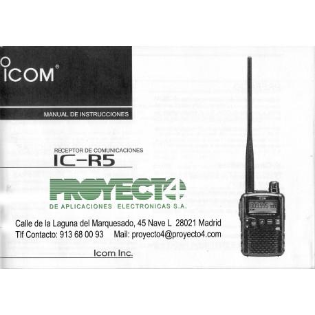 Manual de Instrucciones IC-R5