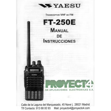 Manual de Instrucciones FT-250E