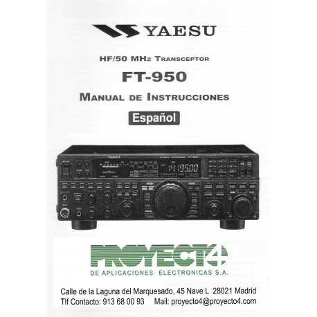 Manual de Instrucciones FT-950