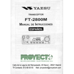 Manual de Instrucciones FT-2800