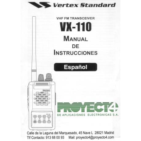 Manual de Instrucciones VX-110