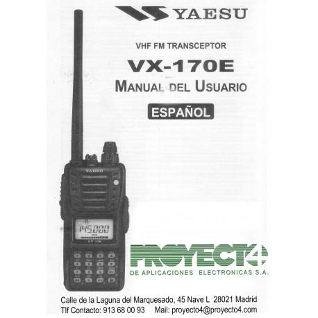 Manual de Instrucciones VX-170