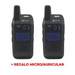 2 x Walkie PMR-446 uso libre Escolta RP-102 + regalo micro/auricular