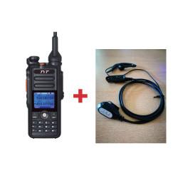Pack Walkie DMR Digital TYT MD-2017  + Micro/auricular