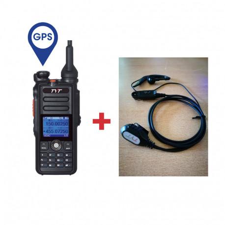 Pack Walkie DMR Digital TYT MD-2017 GPS  + Micro/auricular