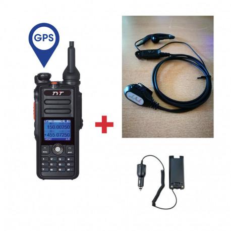 Pack Walkie DMR Digital TYT MD-2017 GPS + Micro/auricular + Eliminador de batería